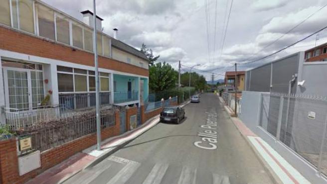 Calle Puerto de Canencia, en Collado Villalba, donde ha tenido lugar el cimen.