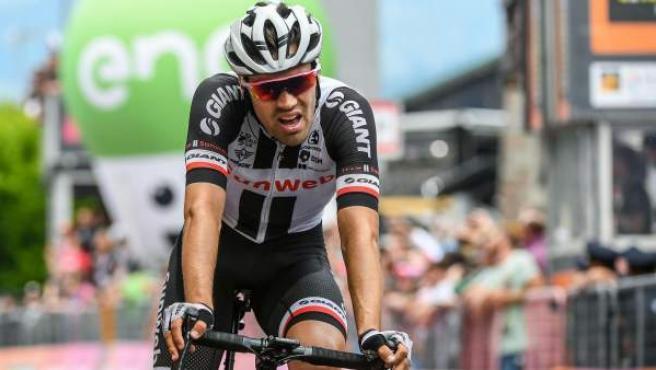 Tom Dumoulin en la penúltima etapa del Giro.