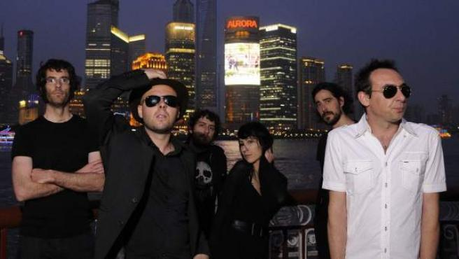 Los componentes de la banda El Columpio Asesino.