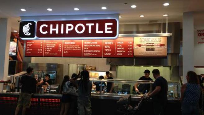 Restaurante de la cadena mexicana Chipotle en Estados Unidos.