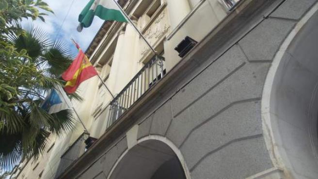 Fachada de la Diputación de Huelva.