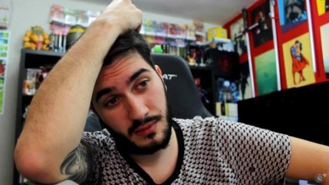 Ismael Prego, más conocido como el youtuber 'Wismichu', en uno de sus vídeos.