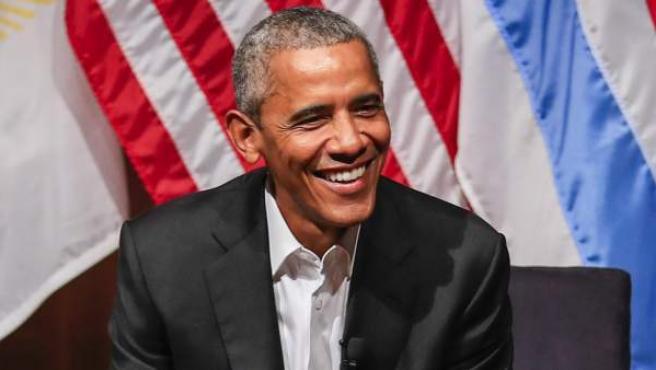 El expresidente estadounidense, Barack Obama, durante una charla en la Universidad de Chicago.