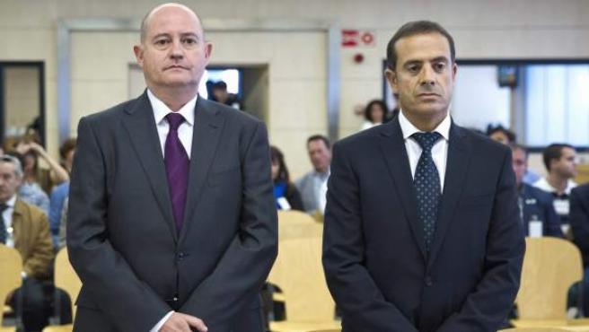 Pamies y Ballesteros, al inicio del juicio del caso Faisán.