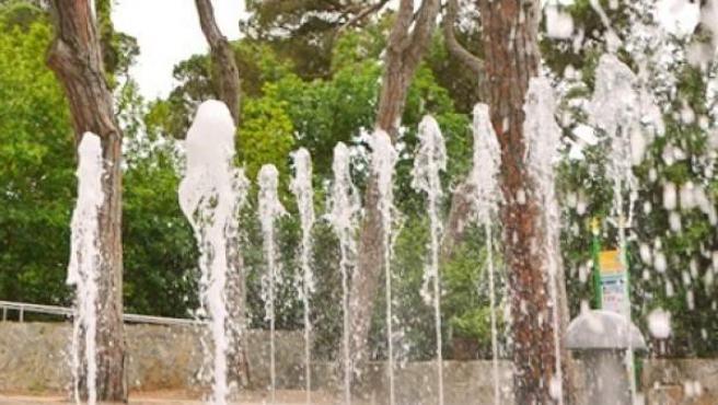 Fuentes interactivas del Tibidabo.