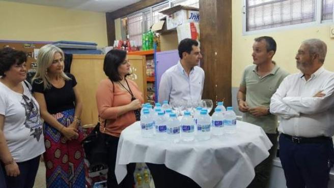 Juanma Moreno, hoy junto a otros dirigentes del PP
