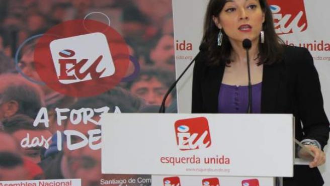 La diputada de En Marea y miembro de EU Eva Solla