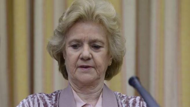 La Defensora del Pueblo, Soledad Becerril, en el Congreso.