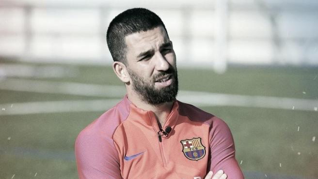 Arda Turan, durante su etapa en el FC Barcelona.