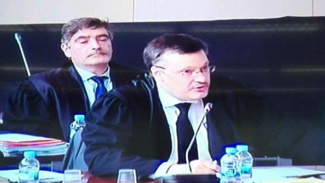 El abogado de Millet, Abraham Castro, en el juicio del caso Palau