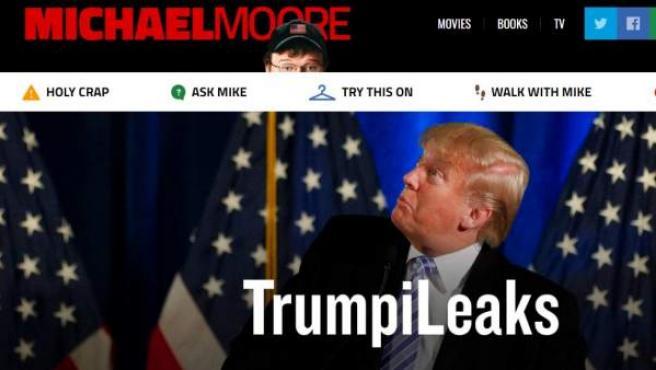TrumpiLeaks, portal de Michael Moore para denunciar y filtrar información contra el presidente Donald Trump.