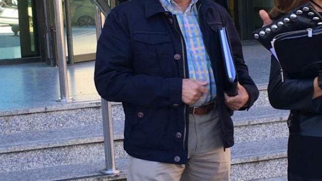 Francisco Liñares en el juzgado de Lugo.