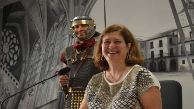 León: Torres en la presentación del Natalicio del Agua con un soldado romano