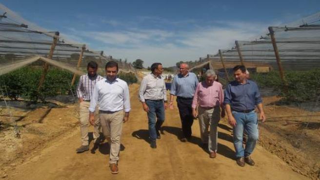 Nota De Prensa Caraballo Visita Aroche, Aracena Y Zufre