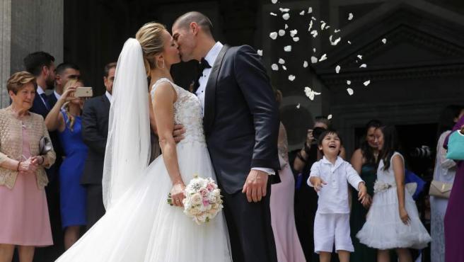 Imagen de la boda de Víctor Valdés y Yolanda Cardena en Barcelona.