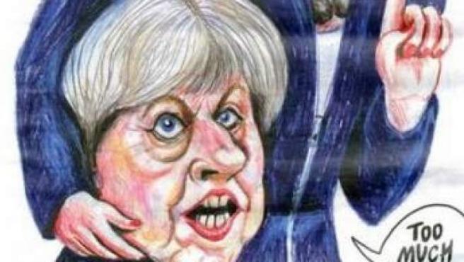 Portada del número de 'Charlie Hebdo' con Theresa May decapitada.