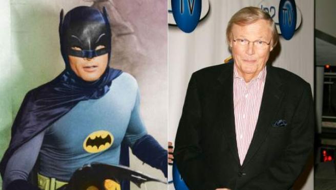 El actor Adam West, caracterizado como Batman y en una imagen de archivo de 2006.