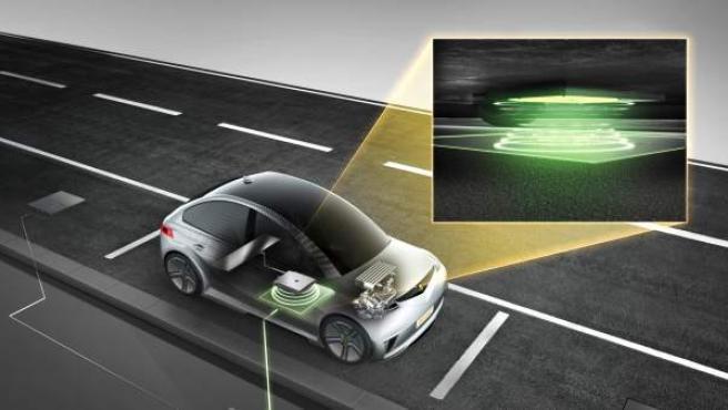 Si el sistema detecta la intrusión de un objeto extraño debajo del vehículo y/o entre la almohadilla de tierra y la almohadilla del vehículo, la transmisión de potencia se interrumpe inmediatamente.