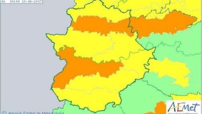 Avisos por calor en Extremadura para el lunes