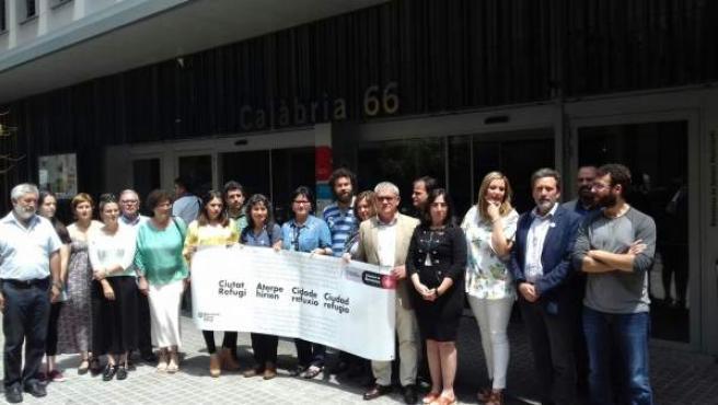 Participantes en las jornadas 'Ciudades Refugio' celebradas en Barcelona