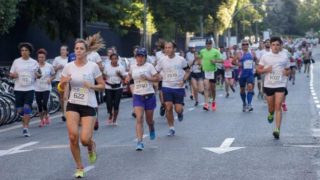 Algunos de los participantes en la cuarta edición de la carrera 'Hay Salida', que se ha celebrado en Madrid.