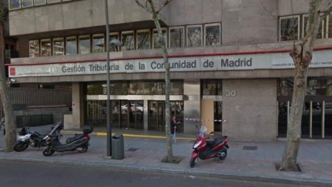 Edificio de la Dirección General de Tributos de la Comunidad de Madrid, donde se liquidan los impuestos regionales.