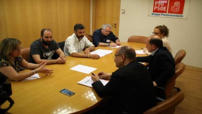 Reunión del PSdeG con CC.OO.