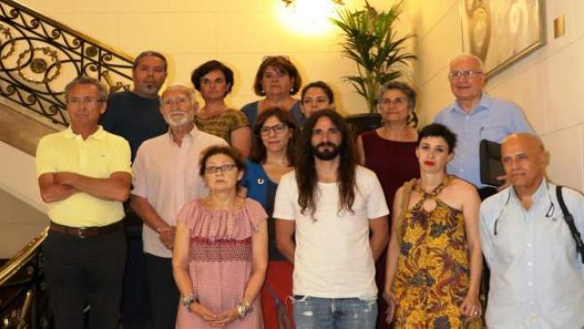 Reunión en el Parlament con la plataforma Balears Acollim