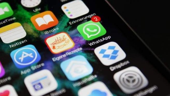 Mensajes en WhatsApp.