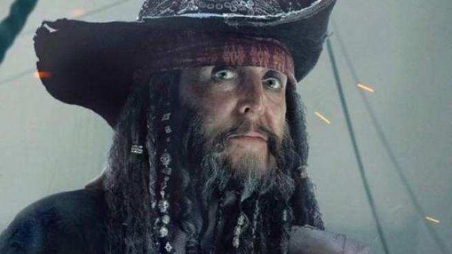 Paul McCartney caracterizado para su cameo en 'Piratas del Caribe: La venganza de Salazar'
