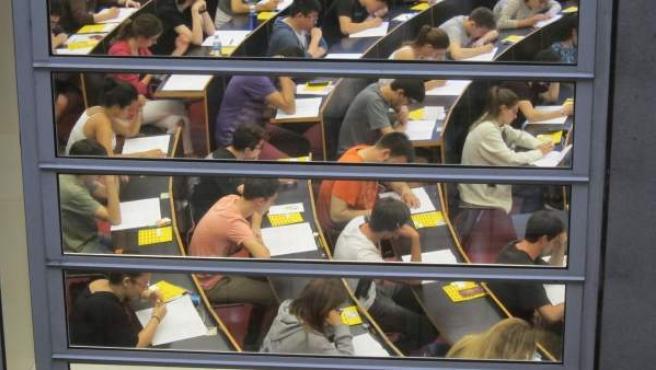 Examen de Selectividad en la universidad UPF de Barcelona.