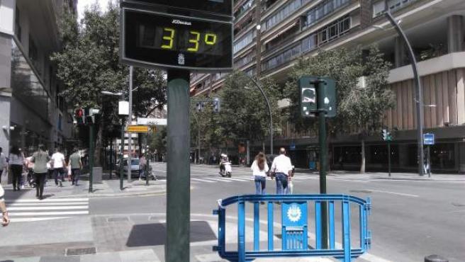 Termómetro de Madrid.