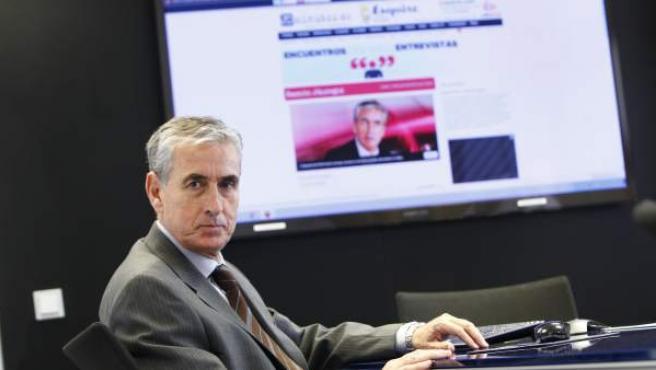 El exministro Ramón Jáuregui, en la redacción de 20minutos.