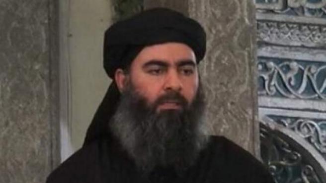 Imagen de archivo del líder de Estado Islámico, Abu Bakr al Baghdadi.