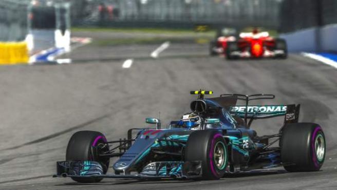 Valtteri Bottas durante el Gran Premio de Rusia de Fórmula 1.