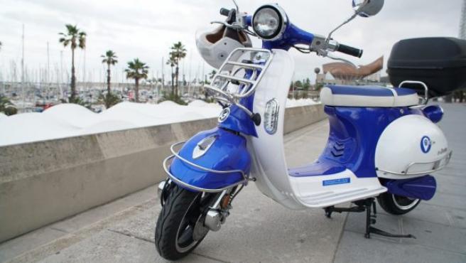 Outo utiliza las motos Quazzar eléctricas: la e-Divine (imagen) y la e-Dolcevita.