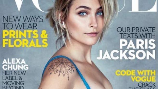 Paris Jackson en la portada de la edición australiana de Vogue.