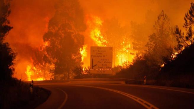 Imágenes del incendio de Pedrógão Grande, en el centro de Portugal.
