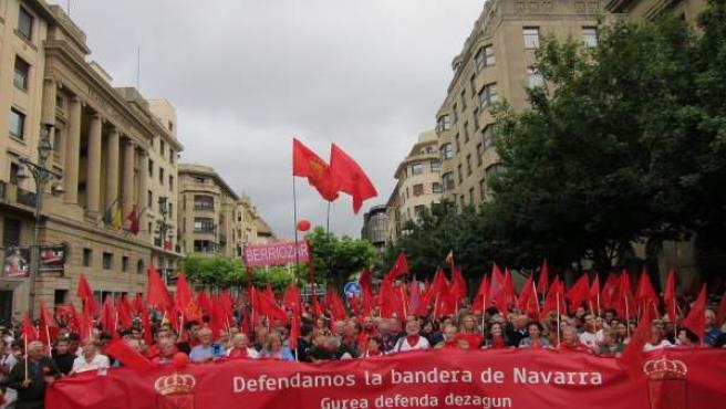 Manifestación en Pamplona 'en defensa de la bandera de Navarra'