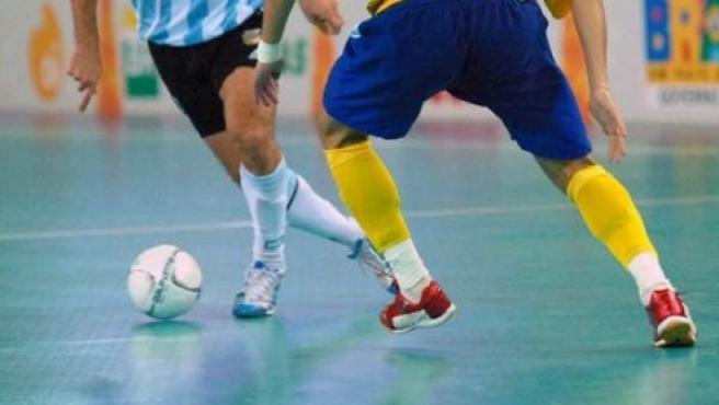Una imagen de un partido de fútbol sala.