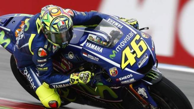 Valentino Rossi, en el GP de Países Bajos de MotoGP.
