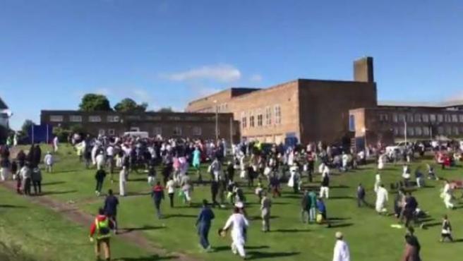 Fotograma de un vídeo que muestra el lugar y el momento en el que se produjo el atropello.