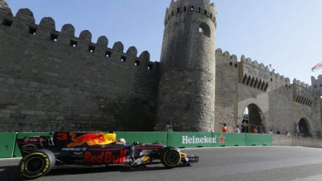 Daniel Ricciardo, en el GP de Azerbaiyán.