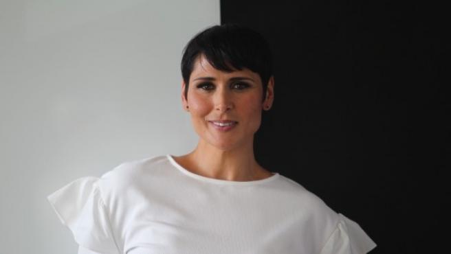 La cantante Rosa López en la redacción de 20minutos antes de una entrevista.