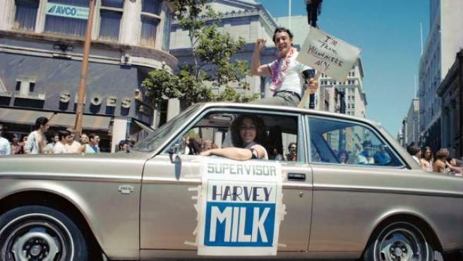 El político y activista Harvey Milk durante una de sus campañas. © Dan Nicoletta.
