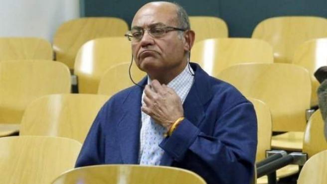 Gerardo Díaz Ferrán, durante el juicio por haberse apropiado presuntamente de 4,4 millones de euros de más de 4.000 clientes de Viajes Marsans.