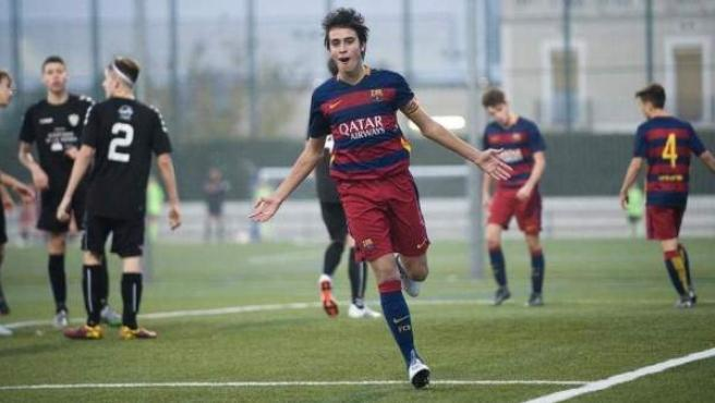 Eric García en un partido de las categorías inferiores del FC Barcelona.
