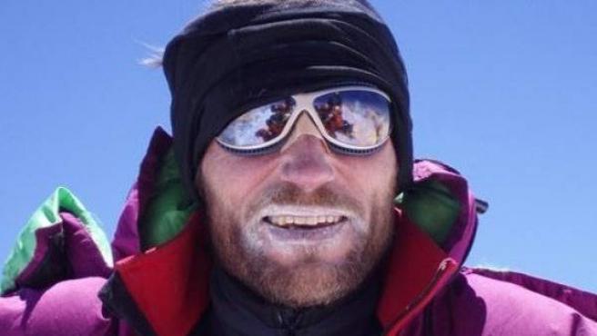 El alpinista vasco Alberto Zerain.
