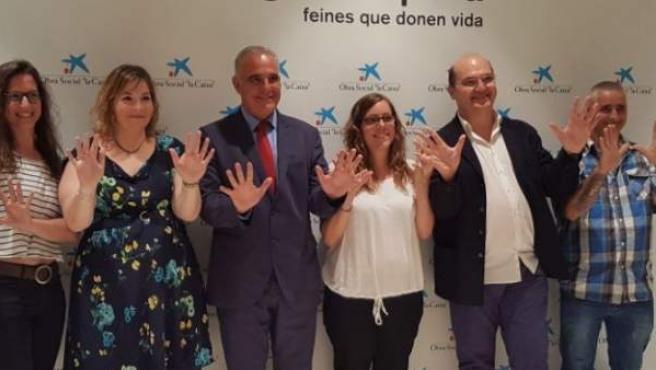 Técnicos y beneficiarios del programa Incorpora de La Caixa celebran los 10 años de este proyecto