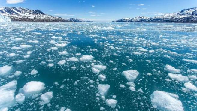Imágenes del deshielo en Groenlandia por el calentamiento global.